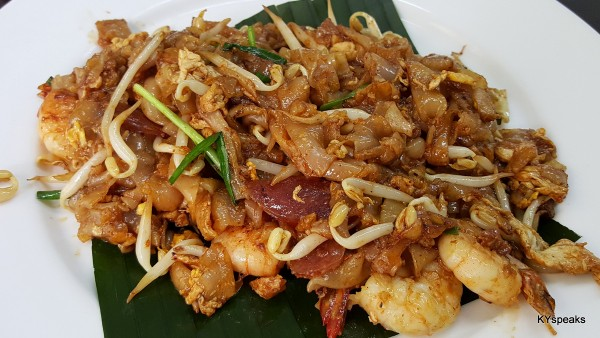 Penang char kuih teow with prawns, cockles, and Chinese sausage