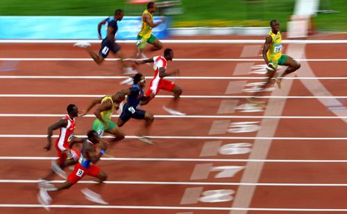 usian bolt 100 meter Olympics 2008