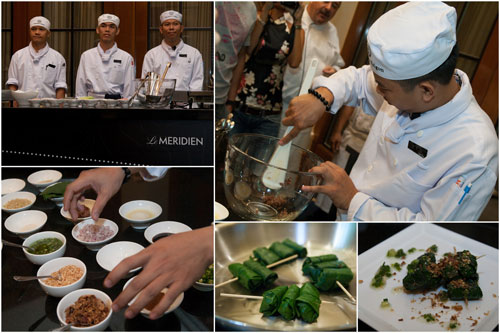 chef Tran Cong Tien and team making Bo La Lot