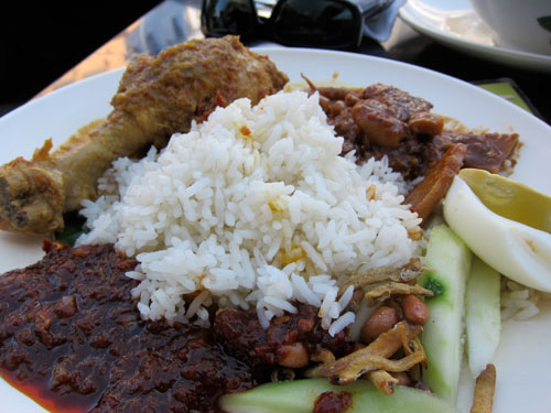 glorious nasi lemak with everything!