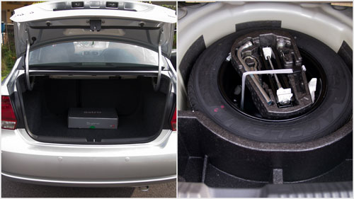 454 liters worth of boot space, with a full spare tyre