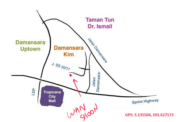 map to wan shoon kopitiam