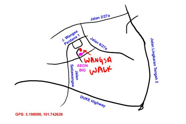 map to wangsa walk