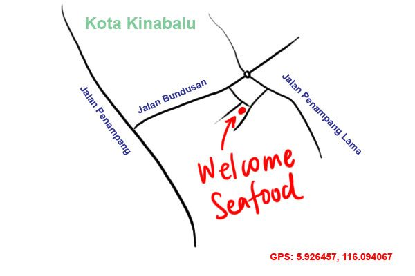 welcome seafood penampang map