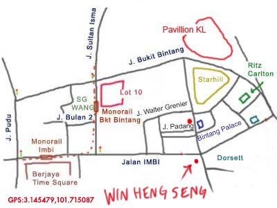 map to restaurant Win Heng Seng