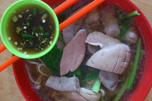 glorious pork noodle, with extra pork kidney