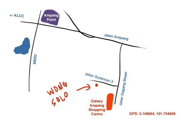 map to Wong Solo Ampang