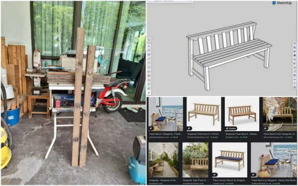 research and 3d design in SketchUp