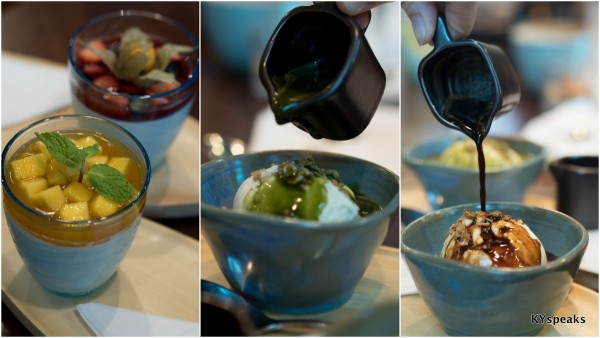 Passionately Mango Panna Cotta (RM 8.90), Matcha Affogato (RM 9.90), Affogato Bezzera (RM 9.90)