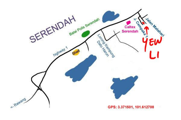 map to Yew Li Serendah