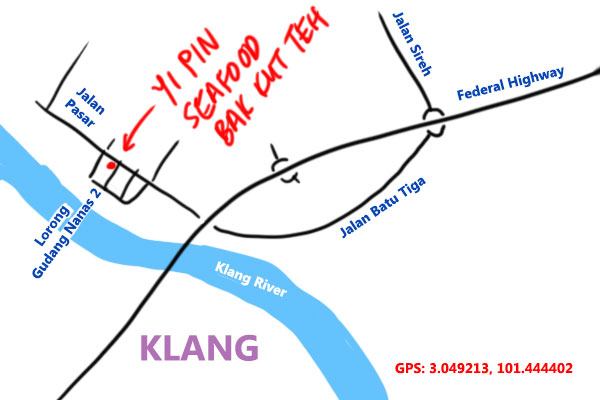 yi pin seafood bak kut teh map