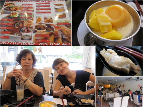 mango pudding, Mom & Haze, pork ribs!