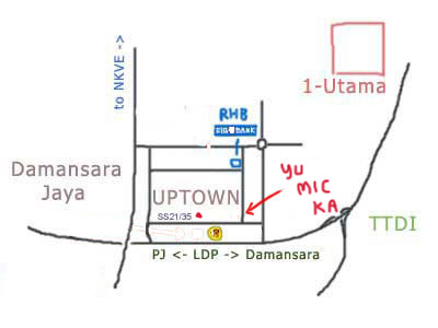 map to Yue Mic Ka at Damansara Uptown