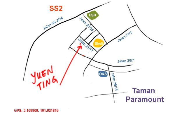 map to Yuen Ting Seapark