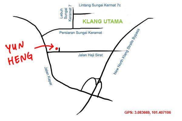 Yun Heng bak kut teh Klang Utama map