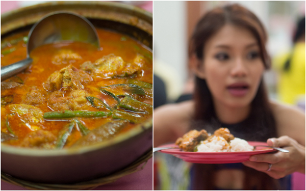 nyonya style curry fish head