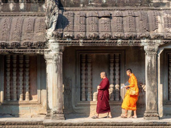 Monks at Angkor Wat, Siem Reap