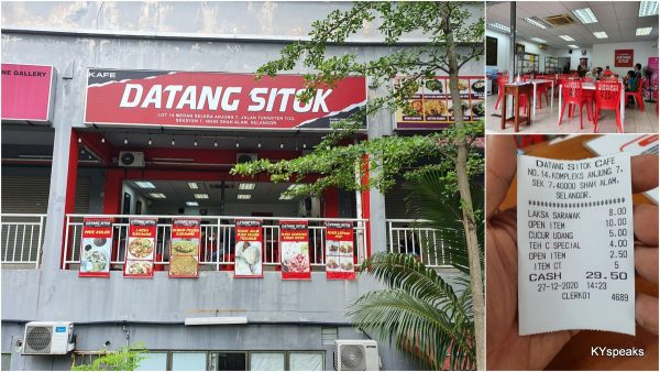 Cafe Datang Sitok, Seksyen 7 Shah Alam