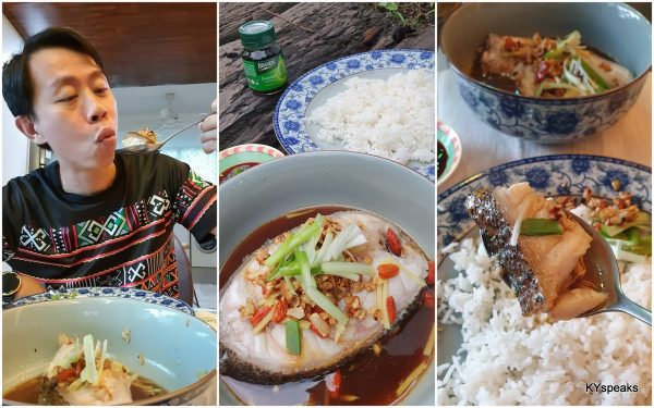 garupa steamed brands homecooked with brand's chicken essence