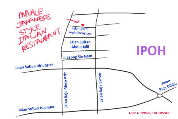 maiale Japanese style Italian restaurant map