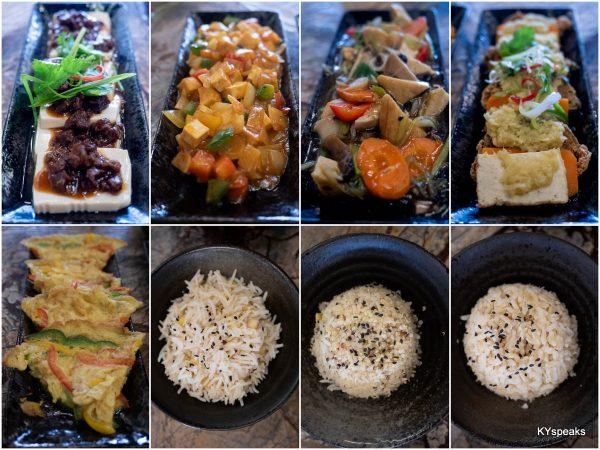 tofu and egg dishes, basmati rice, multigrain brown rice, or quinoa