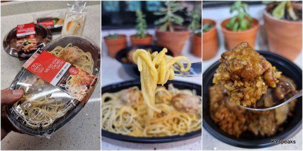 Claypot Chicken and Mushroom Donburi, Salted Egg Chicken pasta