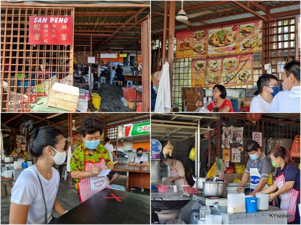 San Peng Prawn Mee stall, KL