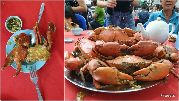 steamed crab, size - L @RM130 each