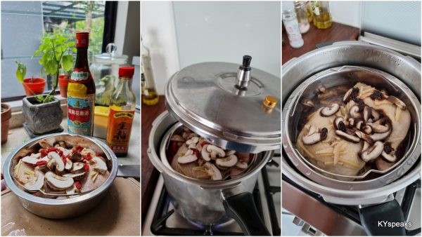 steaming made much faster with pressure cooker