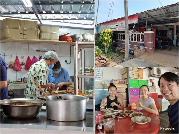 Teo Kee at Ulu Yam, with the old chef