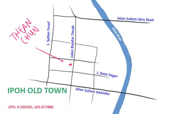 map to Thean Chun Ipoh